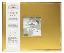 Doodlebug Design Inc. Gold 8x8 Inch Storybook Album (5732)