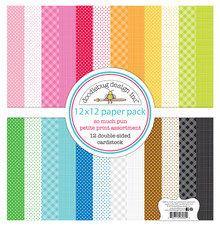 Doodlebug Design Inc. So Much Pun 12x12 Inch Petite Prints Paper Pack (6069)
