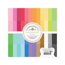 Doodlebug Design Inc. Dot-Stripe Rainbow 6x6 Inch Petite Prints Paper Pad (6135)