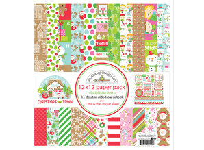 Doodlebug Design Inc. Christmas Town 12x12 Inch Paper Pack (6179)