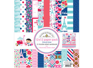 Doodlebug Design Inc. French Kiss 12x12 Inch Paper Pack (6276)