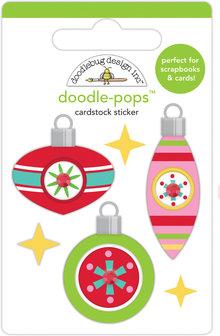Doodlebug Design Inc. Deck the Halls Doodle-Pops (6pcs) (6460)