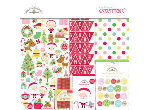 Doodlebug Design Inc. Christmas Magic 12x12 Inch Essentials Kit (6543)