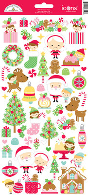 Doodlebug Design Inc. Christmas Magic Icons Sticker (6559)