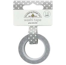 Doodlebug Design Inc. Grey Swiss Dot Washi Tape (3658)