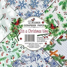 Decorer It's a Christmas Time 8x8 Inch Paper Pack (DECOR-B29-425)