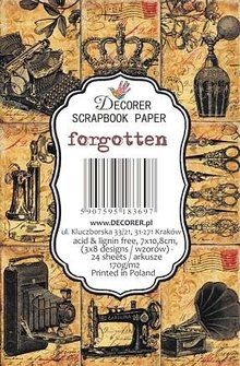 Decorer Forgotten Paper Pack (7x10,8cm) (DECOR-M70)