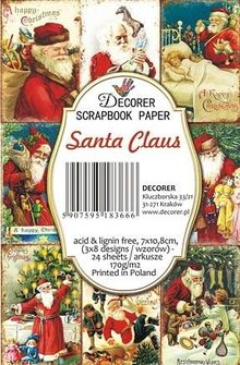 Decorer Santa Claus Paper Pack (7x10,8cm) (DECOR-M73)