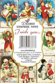 Decorer I Wish You... Paper Pack (7x10,8cm) (DECOR-M74)