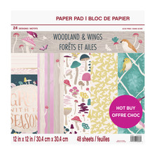Craft Smith Woodland & Wings 12x12 Inch Paper Pad (MSE5210)