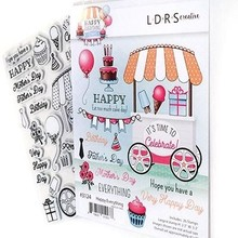 LDRS Creative Happy Everything Rubber Stamps (3124)