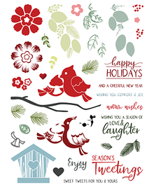 LDRS Creative Petal Pusher Cardinal Seasons Clear Stamps (LDRS3172)