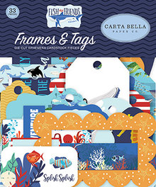 Carta Bella Fish Are Friends Ephemera Frames & Tags (CBFAF111025)