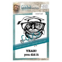 COOSA Crafts #18 Smart Owl Clear Stamps (COC-104)
