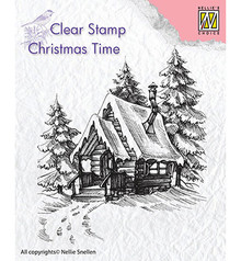 Nellie Snellen Snowy House 2 Clear Stamp (CT022)