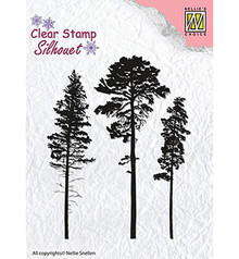 Nellie Snellen 3 Pinetrees Clear Stamp (SIL037)