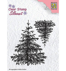 Nellie Snellen Christmas Fir Trees Clear Stamp (SIL038)