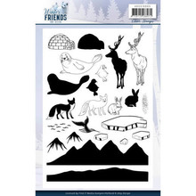 Amy Design Winter Friends Clear Stamp Set (ADCS10065)