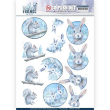 Amy Design 3D Push Out Winter Friends Arctic Friends (SB10406 - HJ17701)