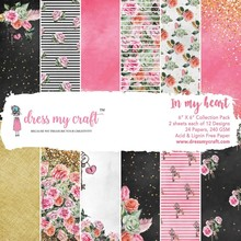 Dress My Craft In My Heart 6x6 Inch Paper Pad (DMCP2102)
