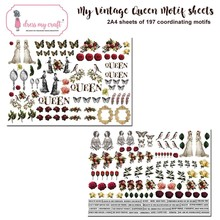 Dress My Craft My Vintage Lady A4 Motif Sheets (DMCP2388)