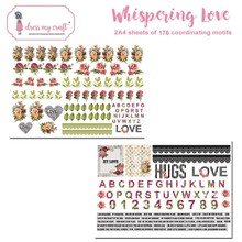 Dress My Craft Whispering Love A4 Motif Sheets (DMCP2465)