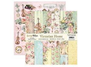 ScrapBoys Victorian Home 12x12 Inch Paper Set (VIHO-08)