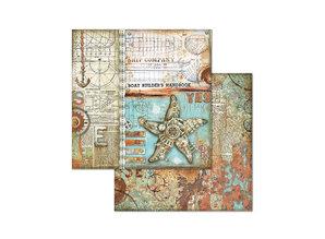 Stamperia Sea World 8x8 Inch Paper Pack (SBBS13)