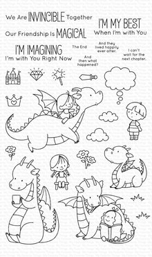 My Favorite Things Magical Friends Clear Stamps (BB-092)
