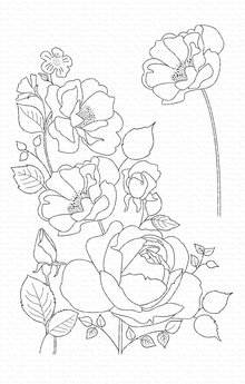 My Favorite Things Rose Garden Clear Stamps (CS-445)