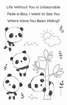 My Favorite Things Panda Pals Clear Stamps (CS-447)