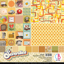 Ciao Bella Papercrafting The Seventies 12x12 Inch Patterns Pad (CBT030)