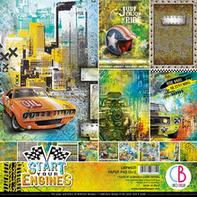 Ciao Bella Papercrafting Start Your Engines 12x12 Inch Paper Pad (CBPM031)