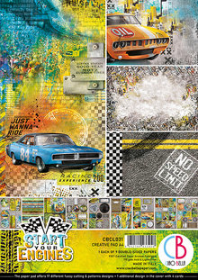Ciao Bella Papercrafting Start Your Engines A4 Creative Pad (CBCL031)