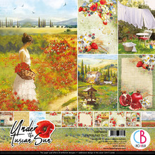 Ciao Bella Papercrafting Under the Tuscan Sun 12x12 Inch Paper Pad (CBPM032)