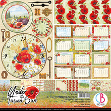 Ciao Bella Papercrafting Under the Tuscan Sun 12x12 Inch Patterns Pad (CBT032)