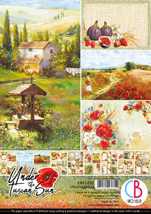 Ciao Bella Papercrafting Under the Tuscan Sun A4 Creative Pad (CBCL032)