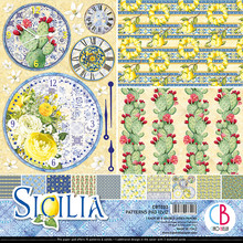 Ciao Bella Papercrafting Sicilia 12x12 Inch Patterns Pad (CBT033)