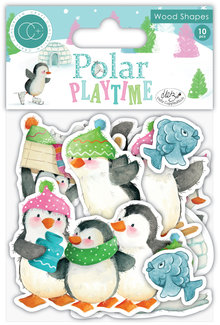 Craft Consortium Polar Playtime Printed Wood Shapes (CCWDNS003)