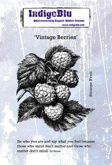 IndigoBlu Vintage Berries A6 Rubber Stamp (IND0578)