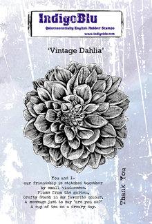 IndigoBlu Vintage Dahlia A6 Rubber Stamp (IND0580)