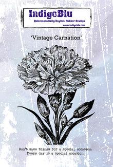 IndigoBlu Vintage Carnation A6 Rubber Stamps (IND0587)