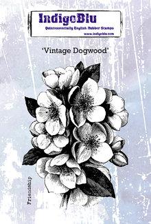 IndigoBlu Vintage Dogwood A6 Rubber Stamp (IND0588)