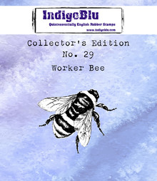 IndigoBlu Collectors Edition 29 Rubber Stamp - Worker Bee (IND0582)
