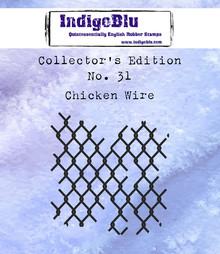 IndigoBlu Collectors Edition 31 Rubber Stamp - Chicken Wire (IND0584)