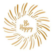 Gemini Foil Stamp 'N' Cut Die Be Happy (GEM-FSC-ELE-BEHA)