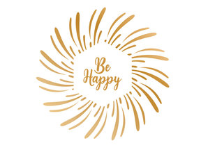 Gemini Foil Stamp 'N' Cut Die Be Happy (GEM-FSC-ELE-BEHA)