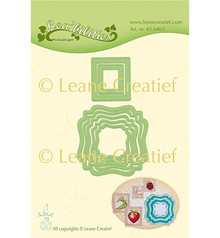 Leane Creatief Snijmal Frames Swirl & Postage Stamps (45.6463)