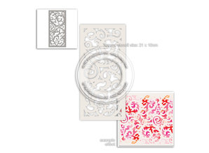 Polkadoodles Delicious Swirls Creative Stencil (PD8007)
