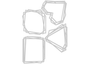 Sizzix Thinlits Alterations Geo Frames (664414)